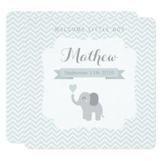 Hjärta för sparre för elefant för fyrkantigt 13,3 cm inbjudningskort