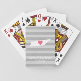 Hjärta för statlig kärlek för Tennessee kartahem Spelkort