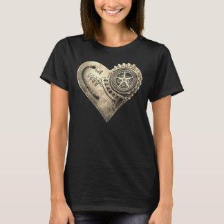 Hjärta för Steampunk vintageurverk Tee