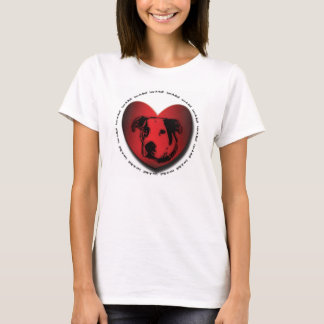 Hjärta för tjur för grop för Luv-EN-Tjur T-shirt