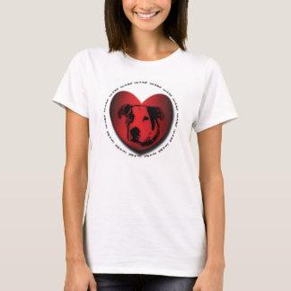 Hjärta för tjur för grop för Luv-EN-Tjur Tee Shirts