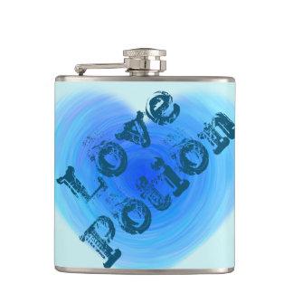 Hjärta för vatten för kärlekdryck rolig djupblå fickplunta