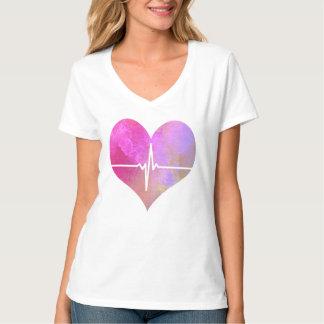 Hjärta för vattenfärg EKG Tee