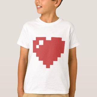 Hjärta för vit 8BIT lurar skjortan T Shirt