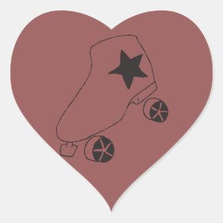 hjärta formar skridskoklistermärkear! hjärtformat klistermärke