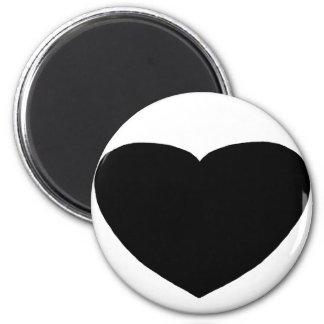 Hjärta Freeform 3 svärtar de MUSEUMZazzle gåvorna Magnet För Kylskåp