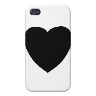 Hjärta Freeform 7 svärtar de MUSEUMZazzle gåvorna iPhone 4 Fodral