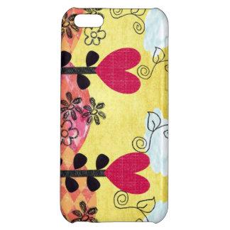 Hjärta fyllt mobilt fodral 5C iPhone 5C Skal