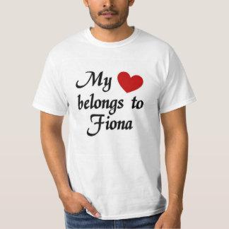 Hjärta hör hemma till fiona tee shirts