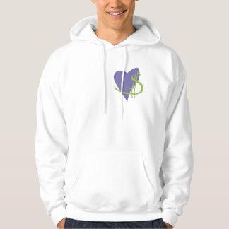 Hjärta i det högra stället sweatshirt med luva
