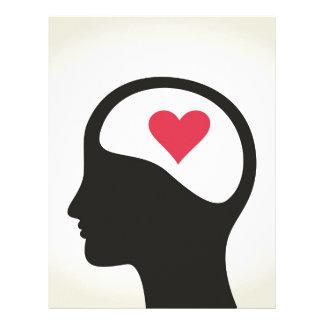 Hjärta i ett huvud brevhuvud