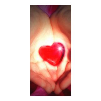 Hjärta i händer rackkort
