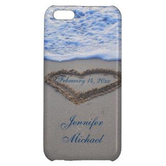 Hjärta i strandSandsakkunnig daterar iPhone 5C Mobil Skydd