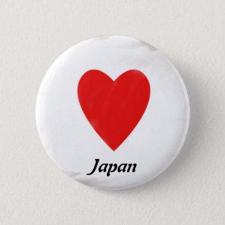 Hjärta Japan Standard Knapp Rund 5.7 Cm