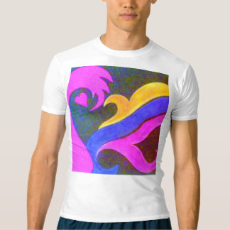 """""""Hjärta- & konst"""" manar T-tröja för kompression T-shirts"""
