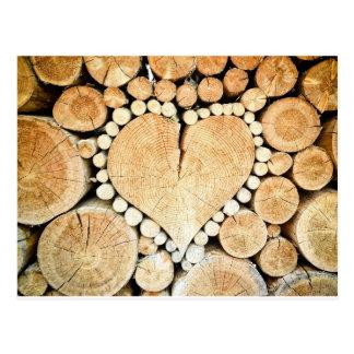 Hjärta loggar in vykort