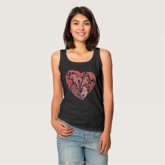 Hjärta med figurer linne