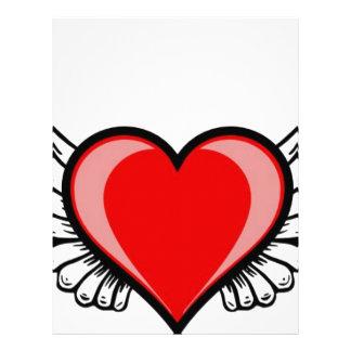 hjärta med vingar brevhuvud