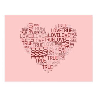 Hjärta- och kärlekvykort vykort