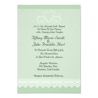 Hjärta- och snörebröllopinbjudningar 12,7 x 17,8 cm inbjudningskort