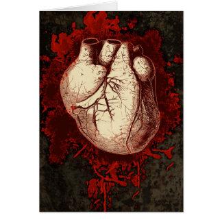 Hjärta och stänker hälsningskort