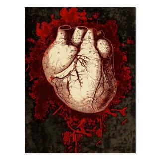 Hjärta och stänker vykort