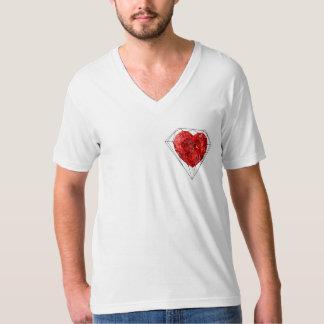 Hjärta på en sleeve tee shirts