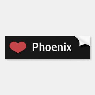 Hjärta Phoenix Bildekal