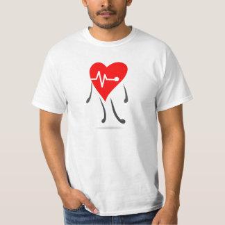 Hjärta pulserar animeringillustrationen tee shirts