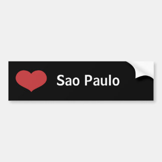 Hjärta Sao Paulo Bildekal