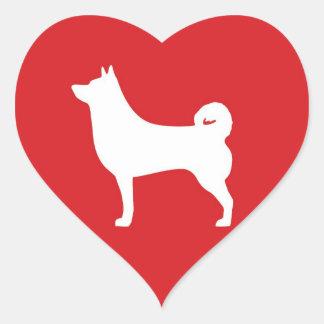 Hjärta Shiba Inu - hjärtaklistermärke Hjärtformat Klistermärke