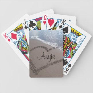 Hjärta som leker kort spelkort