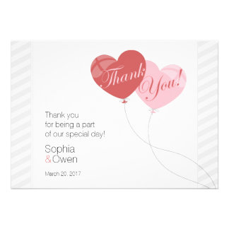 Hjärta sväller brölloptackkortet