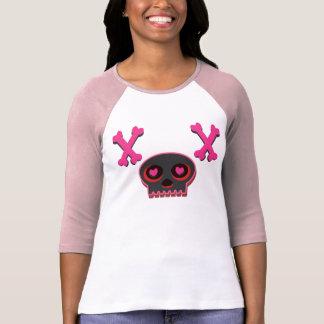 Hjärta synad gullig skalleT-tröja T-shirts