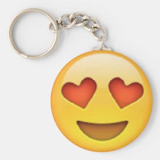 Hjärta synar Emoji Keychain Rund Nyckelring