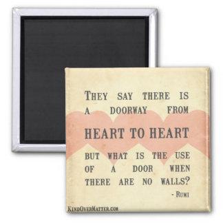 Hjärta till hjärta magnet