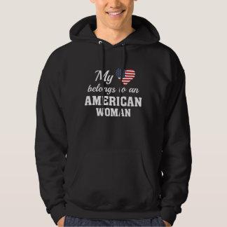 Hjärtaamerikankvinna Sweatshirt
