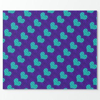 -hjärtad purpurfärgad tegelsten för Aqua som slår Presentpapper