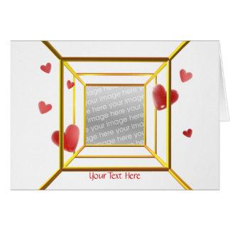 Hjärtaflyktvalentin (fotomallen) hälsningskort