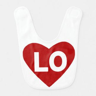 Hjärtahaklapp för LO {kärlek} för twillingar Hakklapp