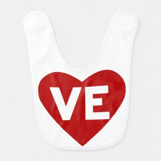 Hjärtahaklapp för VE {kärlek} för twillingar Hakklapp