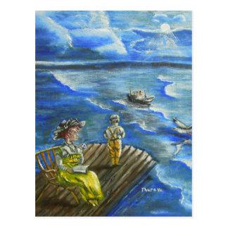 hjärtahav av titanic vykort