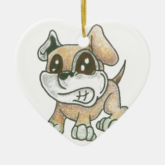 Hjärtahundprydnad - gullig hund för TOWT-maskot Julgransprydnad Keramik