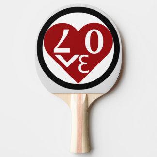 Hjärtakärlekpingen Pong paddlar Pingisracket