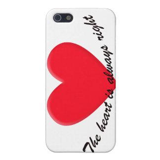 Hjärtan är alltid höger iPhone 5 fodraler