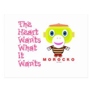 Hjärtan önskar vad det Önska-Gullig Vykort