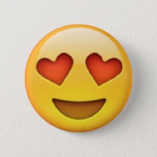 Hjärtaögon Emoji knäppas Standard Knapp Rund 5.7 Cm
