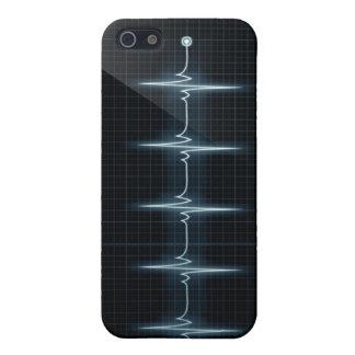 Hjärtatakten pulserar matten för fodral för iPhone 5 skydd