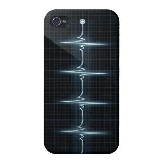 Hjärtatakten pulserar vett för fodral för TraceiPh iPhone 4 Skal