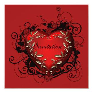 Hjärtavalentin inbjudan för party för dag
